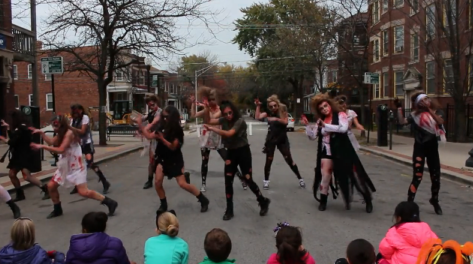 """thriller' zombies in andersonville"