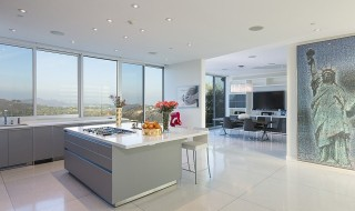 Sleek-gray-white-countertops-match-minimalistic-feel