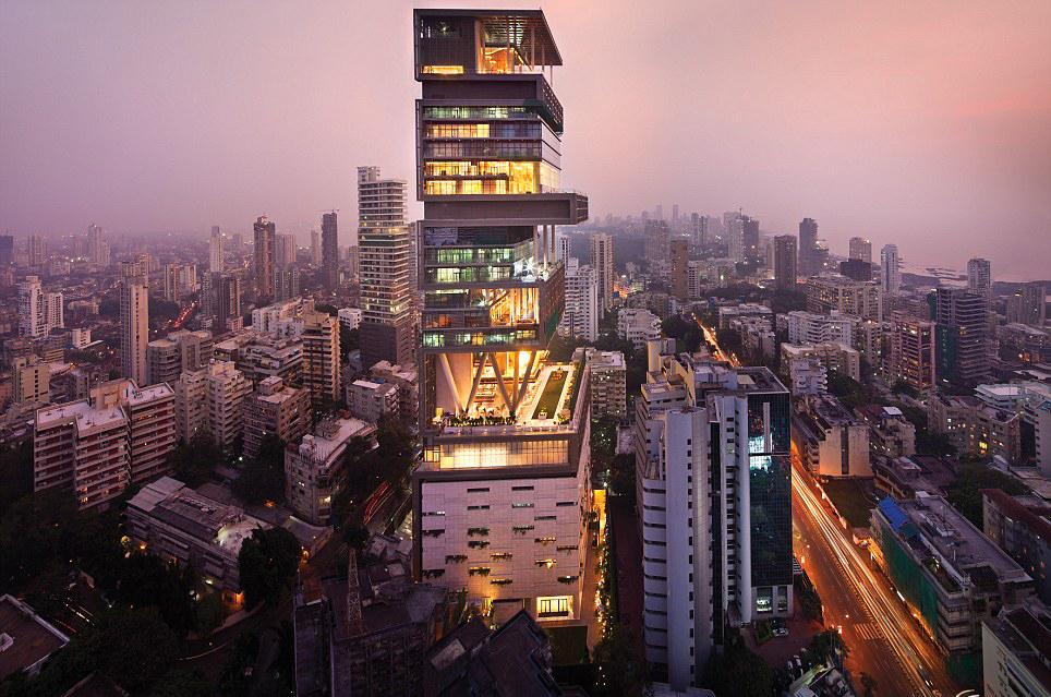 Image result for Antilia, Mumbai, India