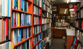 Inside Powell's Books (Photo via AbeBooks on Flickr)