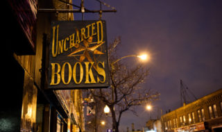 Sign outsided Uncharted Books (Photo courtesy of Katie Samuels via Pinterest)