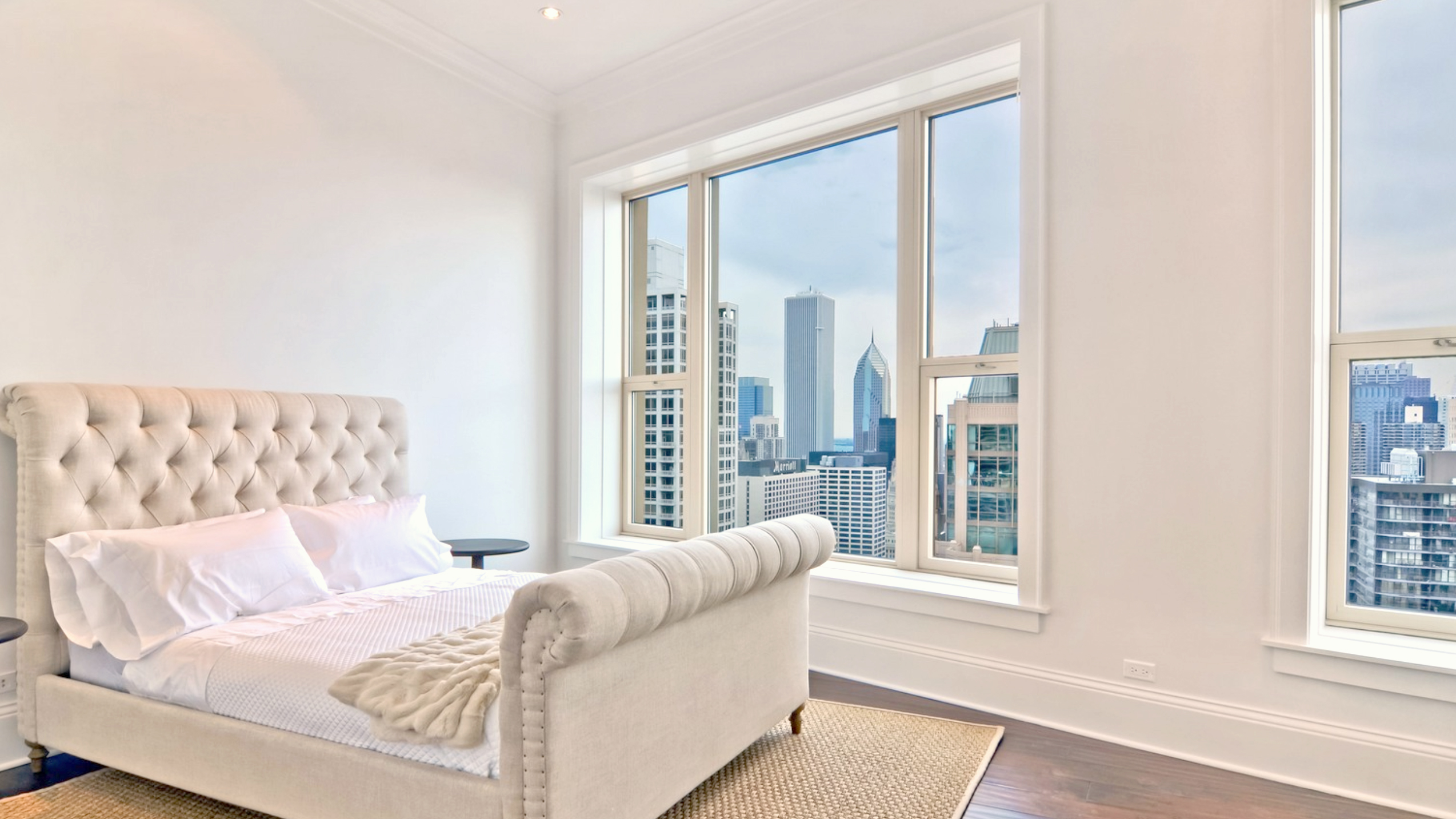 luxury condo bedroom chicago