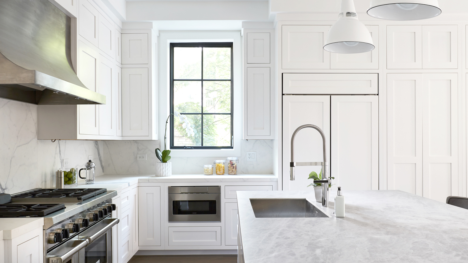 marble white kitchen design