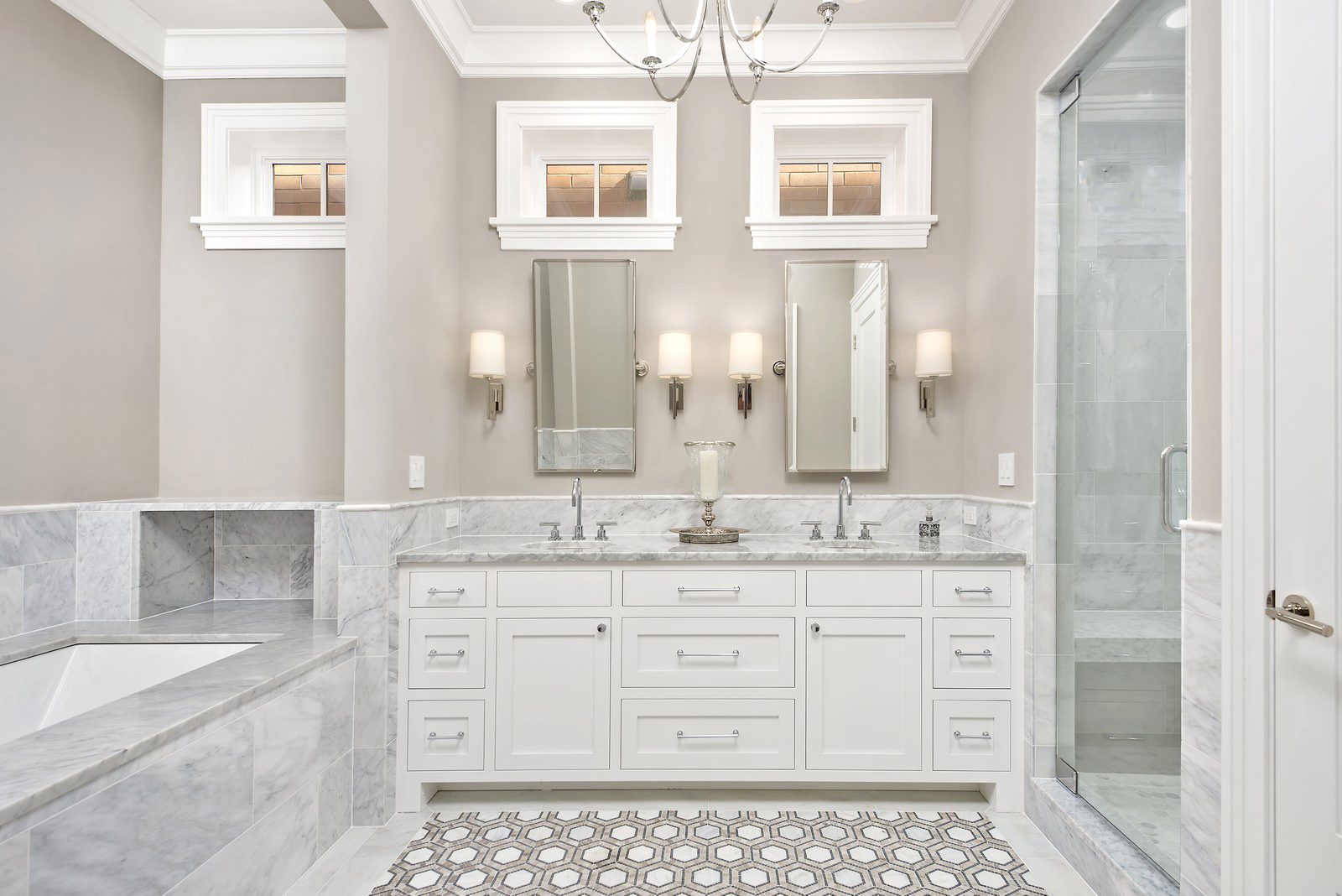 Get the Look: Marble Bathroom in Lakeview